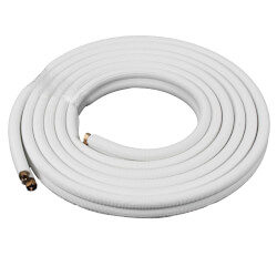 "1/4"" LL x 3/8"" SL Mini Split Refrigerant Line Set w/ Flare Nuts, 3/8"" Insulation (30 Ft.) Product Image"