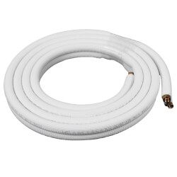 "1/4"" LL x 3/8"" SL Mini Split Refrigerant Line Set w/ Flare Nuts, 1/2"" Insulation (15 Ft.) Product Image"