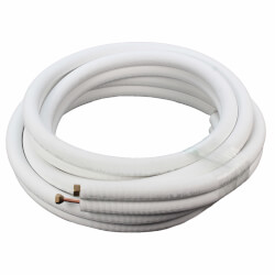 "3/8"" LL x 5/8"" SL Mini Split Refrigerant Line Set w/ Flare Nuts, 1/2"" Insulation (25 Ft.) Product Image"