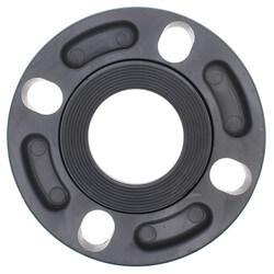 "6"" CPVC Sch. 80 Van Stone Flange w/ Plastic Ring (Socket x Multi Bolt) Product Image"