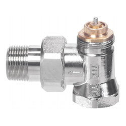 "1/2"" Threaded x Male Union Vertical Angle Valve w/ Straight Nipple (9000183) Product Image"