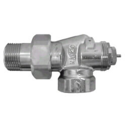 "1/2"" Threaded x Male Union Horizontal Angle Valve with Straight Nipple (9000179) Product Image"
