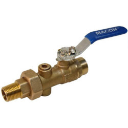 "3/4"" FNPT BB Reduced Body Union End<br>Balancing Ball Valve Product Image"