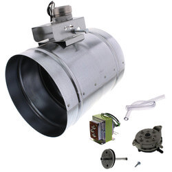 "8"" Universal Auto Make-Up Air Damper w/ Pressure Sensor Kit Product Image"