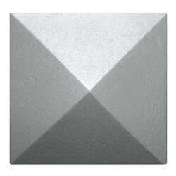 """5-1/2"""" Mesa Square Cleanout Cover (Seaside Silver) Product Image"""