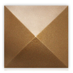 """5-1/2"""" Mesa Square Cleanout Cover (Glamour Gold) Product Image"""