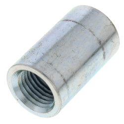 "1/4"" Galvanized Steel Merchant Coupling Product Image"