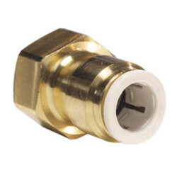 """1/4"""" OD x 1/4"""" Brass Threaded FFL Female Connector (Lead Free) Product Image"""