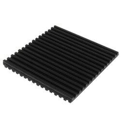 "Rubber Anti-Vibration Pad, 4"" x 4"" x 3/8"" Product Image"