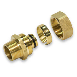 "3/4"" PEX-AL-PEX Compression Fitting Product Image"