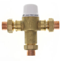 "1/2"" Union Sweat Mixing Valve, 80 to 120F (Lead Free) Product Image"