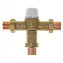 "3/4"" Union Sweat Mixing Valve, 80 to 120F (Lead Free) Product Image"