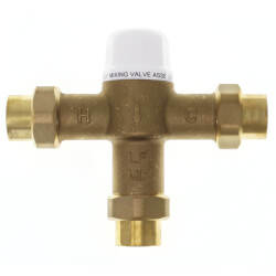 "1/2"" Union Female Threaded Mixing Valve, 80 to 120F (Lead Free) Product Image"