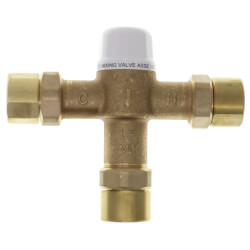"""3/4"""" Union Female Threaded Mixing Valve, 80 to 120F (Lead Free) Product Image"""