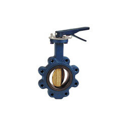 """10"""" Lug Cast Iron Butterfly Valve, EPDM, Manual Gear Handle (200 PSI) Product Image"""