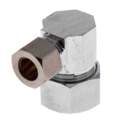 """5/8"""" x 3/8"""" OD Chrome Plated Compression Elbow (Lead Free) Product Image"""