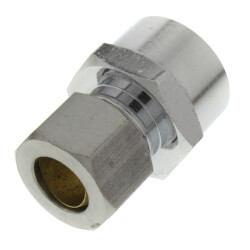 "3/8"" Compression x 5/8"" OD Chrome Plated Sweat Adapter (Lead Free) Product Image"