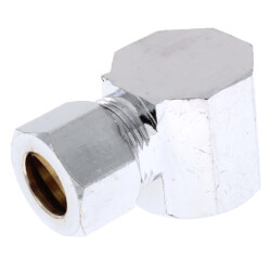 "3/8"" OD x 3/8"" FIP Chrome Plated Compression Elbow (Lead Free) Product Image"