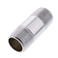 "3/8"" x 7"" Chrome Brass Nipple (Lead Free) Product Image"