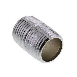 "1/2"" x Close Chrome Brass Nipple (Lead Free) Product Image"