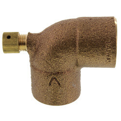 "3/4"" Cast Brass 90° Elbow w/ Drain (Lead Free) Product Image"