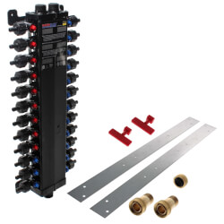 24 Port Polymer PEX Crimp MANABLOC Package (NPT Supply) Product Image