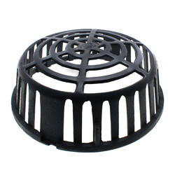 """12-7/16"""" L Roof Drain Dome (Blue, Cast Iron) Product Image"""