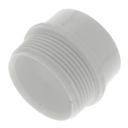 "1-1/2"" PVC DWV<br>Male Trap Adapter<br>(Spigot x Slip) Product Image"