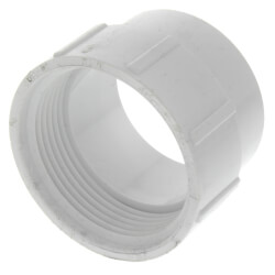 """1-1/2"""" PVC DWV<br>Fitting Cleanout Adapter Product Image"""