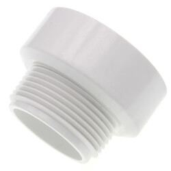 """1-1/4"""" x 1-1/2"""" PVC DWV Male Adapter Product Image"""
