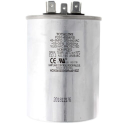 440V Dual Round Run Capacitor, 45/5 MFD Product Image