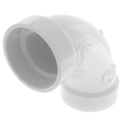 "2"" PVC DWV<br>Long Turn<br>90° Elbow Product Image"