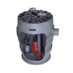 """4/10 HP Sewage Pump System w/ ALM-2 - 115v - 2"""" Discharge - 21"""" x 30"""" Basin Product Image"""