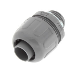 "1/2"" Plastic Liquid Tight Straight Connector (Grey) Product Image"