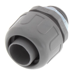 "3/4"" Plastic Liquid Tight Straight Connector (Grey) Product Image"