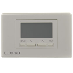LuxPro Programmable Thermostat 5/1/1 Programming (2 Heat - 1 Cool) Product Image
