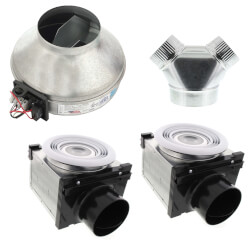 """4"""" & 6"""" Premium Bath Fan with Dimmable 7W LED, 67 W, 270 CFM (120V) Product Image"""
