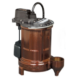 1/3 HP Model PC-257<br>115V Cast Iron Auto Sump Pump Combo, 12V Battery Product Image