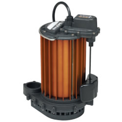 1/2 HP Model PC-457<br>115V Poly/Alum. Auto Sump Pump Combo, 12V Product Image
