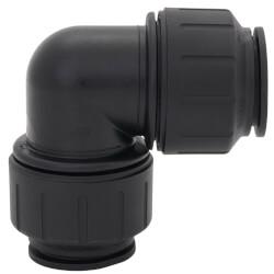 "PEI0336E PEX Union 90° Elbow, 1"" CTS, Black Product Image"