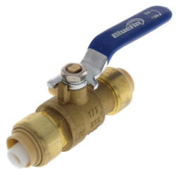 "1/2"" Push-Fit Ball Valve with Drain (Lead Free) Product Image"
