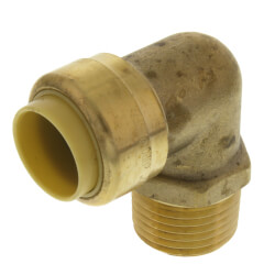 "1/2"" Push Fit x MNPT 90° Elbow (Lead Free) Product Image"