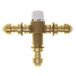 "1/2"" Union Push-Fit Mixing Valve, 80 to 120F (Lead Free) Product Image"