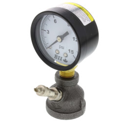 Gas Test Manifold Coupling w/ Pressure Gauge & Snifter Valve (0-15 PSI) Product Image