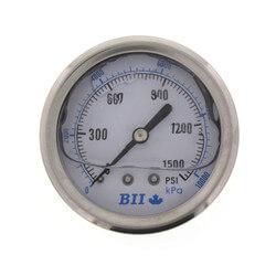 "Liquid Filled Pressure Gauge w/ 2-1/2"" Dial (0-1500 psi) Product Image"