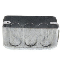 "Galvanized Steel Utility Box (4"" x 2-1/8"" x 1-7/8"") Product Image"