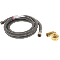 "60"" Dishwasher Connector, 3/8"" Comp. x 3/8"" Comp. w/ Garden Hose Elbow Product Image"