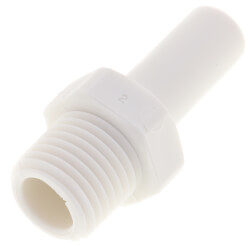 "3/8"" x 1/4"" NPTF Stem Adapter (Polypropylene) Product Image"