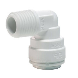 "1/2"" x 3/8"" NPTF Male Fixed 90° Elbow (Single-Pack) Product Image"