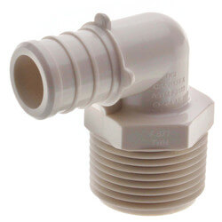 "3/4"" PEX x 3/4"" MPT PolyAlloy Crimp Elbow Product Image"